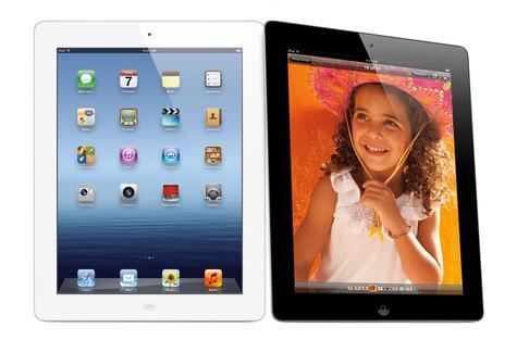 Nuevo iPad en color blanco y negro