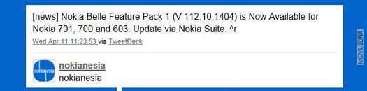 Actualización Nokia Belle