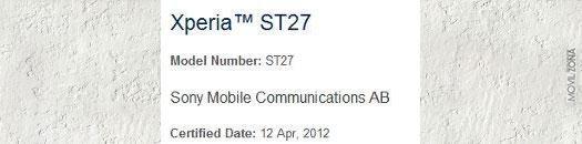Información del Sony Xperia LT 27