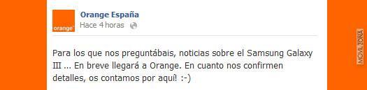 Samsung Galaxy S3 con Orange