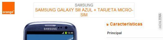 Precios Galaxy S3 con Orange