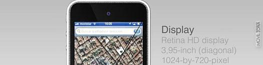 iphone 5 parte superior de su pantalla de 3,9 pulgadas