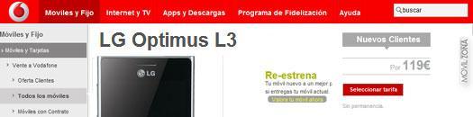 LG Optimus L3 con Vodafone