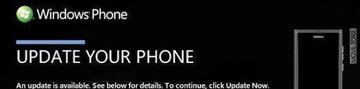 Nokia Lumia 800 actualización