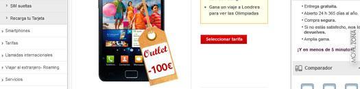 Galaxy S2 en el outlet de Vodafone