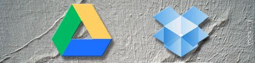 logotipo de google drive y dropbox