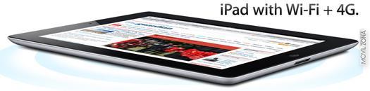 Conectividad WiFi + 4G del nuevo iPad