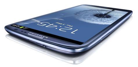 Samsung Galaxy S3 de color azul