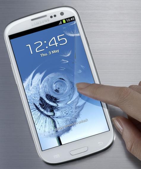 Samsung Galaxy S3 de color blanco