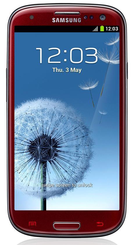 Samsung Galaxy S3 de color rojo