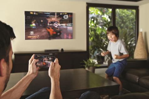 Samsung Galaxy S3 conectado con televisor de forma inalámbrica