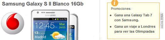 Samsung Galaxy S2 con Vodafone y con sorteo de regalos