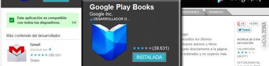 Captura de pantalla de Google Play Books