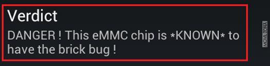 detección del chip eMMC