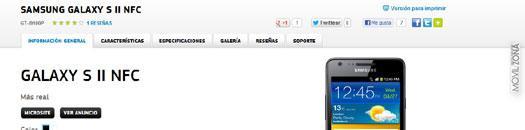 Samsung galaxy S2 con NFC