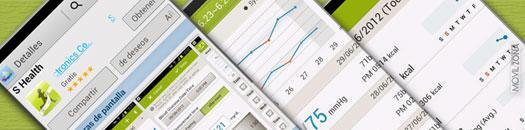 Capturas de pantalla de la aplicación S Health