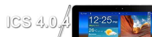 Actualización de Galaxy Tab 10.1