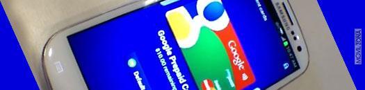 Samsung Galaxy S3 con pantalla de Google Wallet