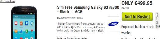 Samsung Galaxy S3 negro