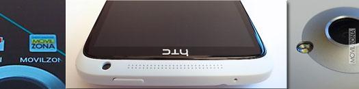 HTC ONE X frontal, pantalla y objetivo de cámara