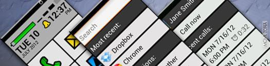 Iconos grandes en móvil Android