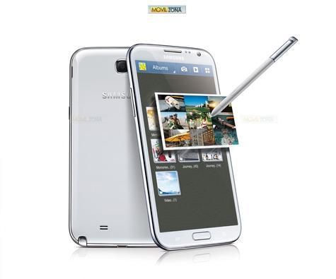Samsung Galaxy Note 2 en color blanco con lápiz
