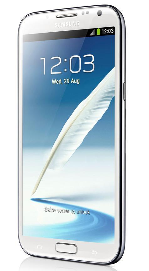 Samsung Galaxy Note 2 en color blanco