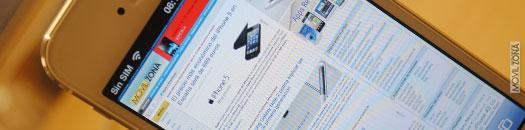 iPhone 5 con MovilZona web