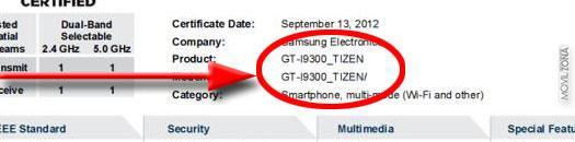 Nuevo Samsung Galaxy S3 Tizen