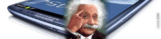 Samsung Galaxy S3 con Albert Einstein