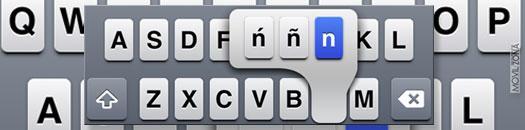 teclado apple con letra eñe