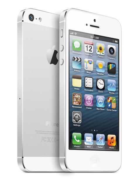 iPhone 5 blanco vista frontal y trasera