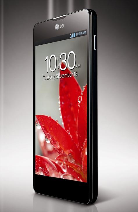 LG Optimus G negro vista frontal