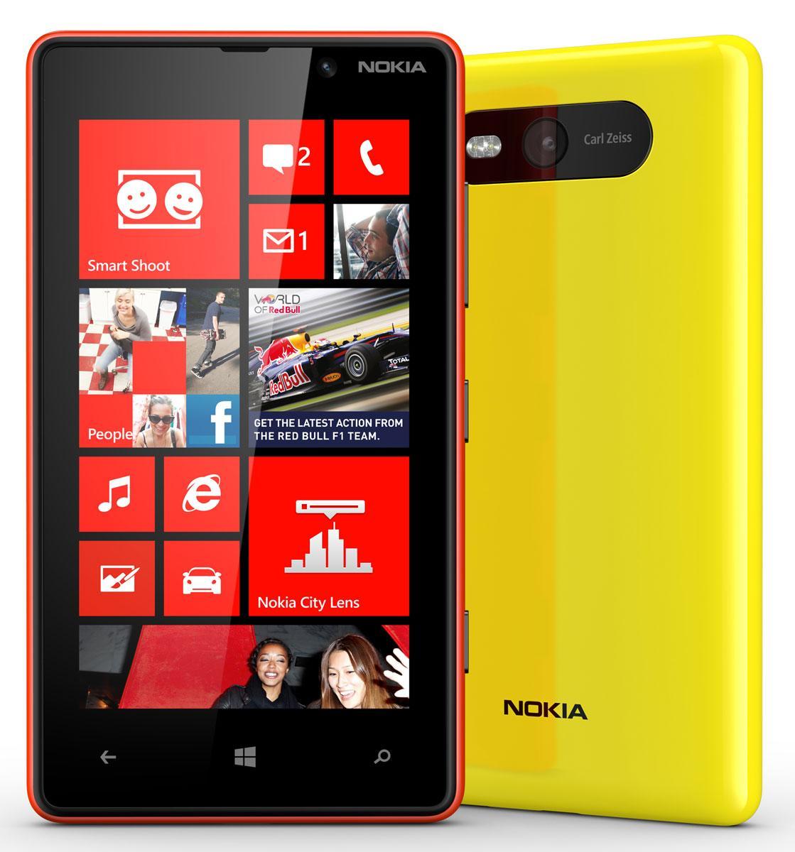 Nokia Lumia 820 rojo y amarillo