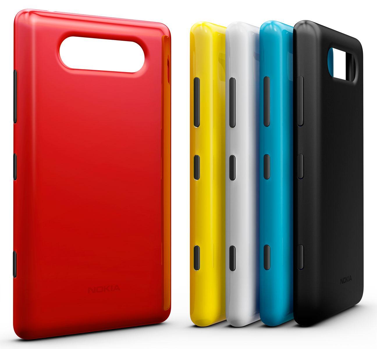 Nokia Lumia 820 rojo carcasas