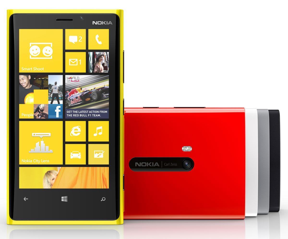 Nokia Lumia 920 en color amarillo y rojo