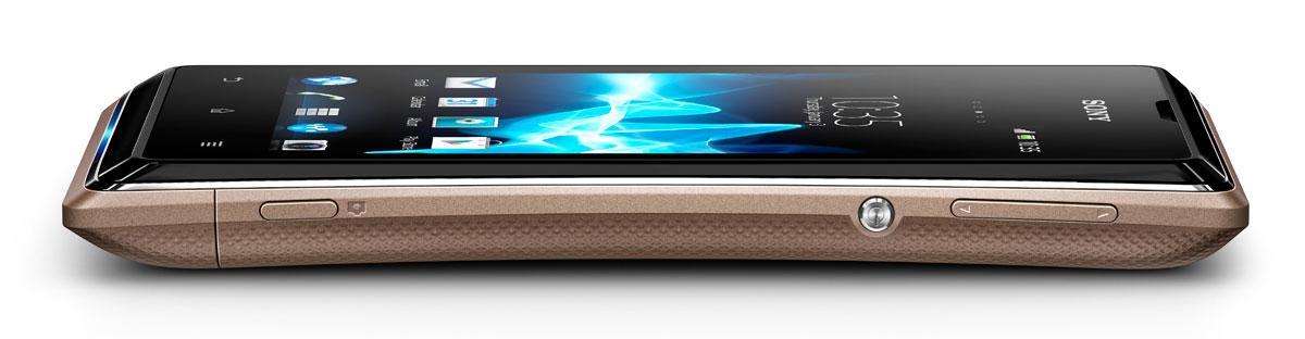 Sony Xperia E vista de perfil