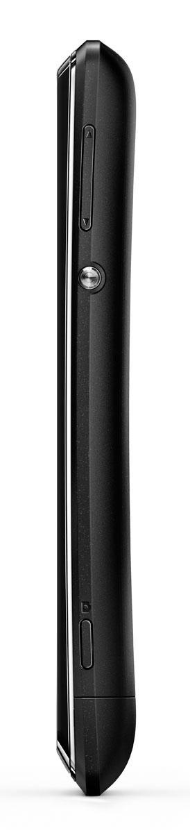 Sony Xperia E negro vista lateral