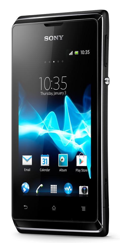 Sony Xperia E negro vista frontal
