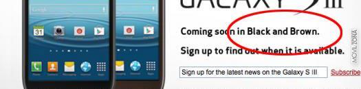 Samsung Galaxy S3 en negro y marrón