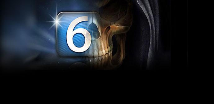 Logotipo de IOS 6 con calavera
