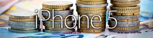 Euros con logotipo de iPhone 5