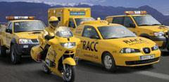 coches y motos amarillos del RACC