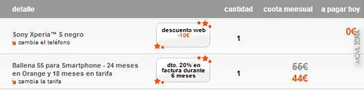 Oferta para conseguir el Xperia S gratis con Orange