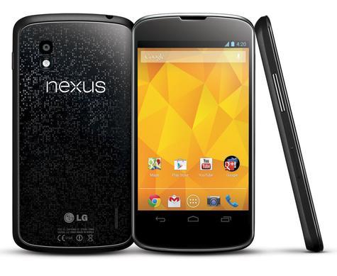Nexus 4 vista frontal, trasera y lateral