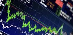Gráfico de Bolsa en ordenador