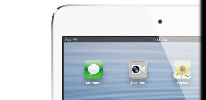 iPad Mini de color blanco