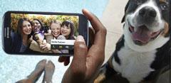 Imagen Samsung Galaxy S3 con chicas y un perro