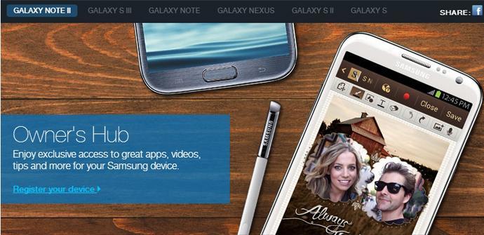 Registro Samsung Galaxy S3 en la página de Facebook Samsung Mobile USA