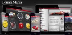 Imagen promocional de la nueva aplicación de Ferrari: Ferrari MANIA.